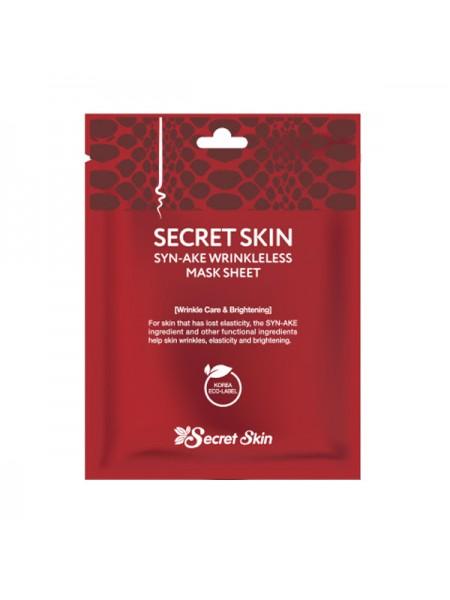Secret Skin SYN-AKE Wrinkless Mask Sheet Антивозрастная тканевая маска для лица со змеиным ядом