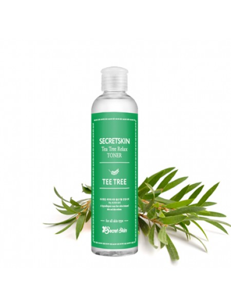 Secret Skin Tea Tree Relax Toner Успокаивающий тонер для лица с экстрактом чайного дерева