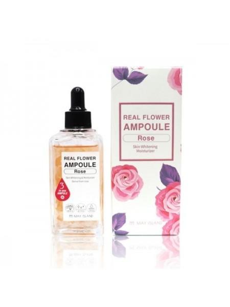 Ампульная осветляющая сыворотка MAY ISLAND Real Flower Ampoule Rose