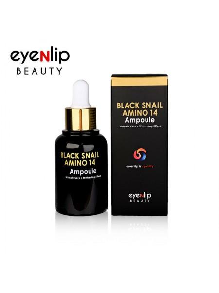 Сыворотка для лица ампульная с аминокислотами Eyenlip Black Snail Amino 14 Ampoule 30мл
