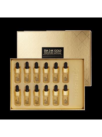 Ампульная сыворотка с золотом и пептидами  Medi-Peel 24К Dia 24K Gold Signature Ampoule 10мл*12шт