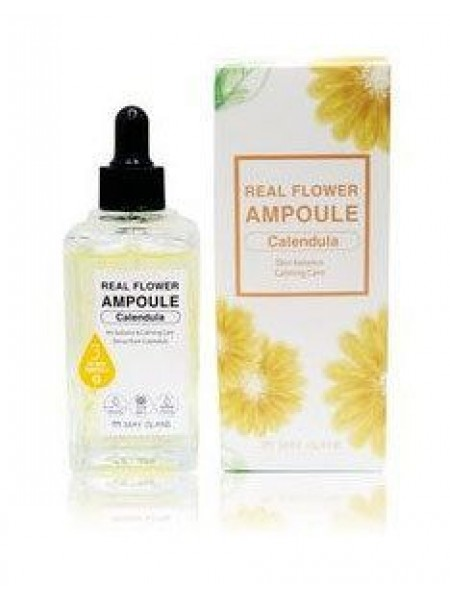 Ампульная сыворотка успокаивающая с календулой MAY ISLAND Real Flower Ampoule Calendula