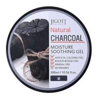 Гель с древесным углем Jigott Natural Charcoal Moisture Soothing Gel