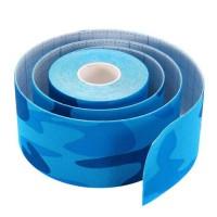 Кинезио тейп для лица Ayoume Kinesiology Tape Roll 2,5см*5м — синий камуфляж