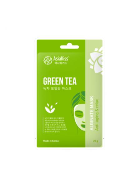 Альгинатная маска с экстрактом зеленого чая AsiaKiss  Green tea alginate mask, 25г