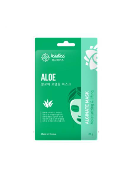 Альгинатная маска с экстрактом алое  AsiaKiss Aloe alginate mask, 25г