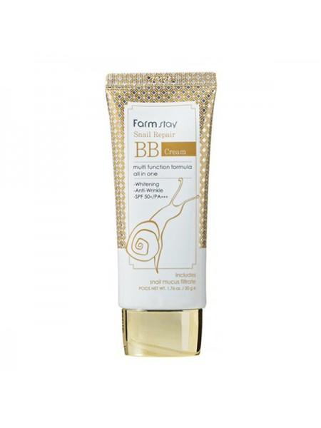 ББ крем для лица с муцином улитки FarmStay Snail Repair BB Cream SPF50+/PA+++, 50g