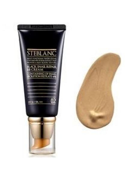 Steblanc Black Snail Repair BB Cream  ВВ крем с муцином Чёрной улитки тон 02 (беж)