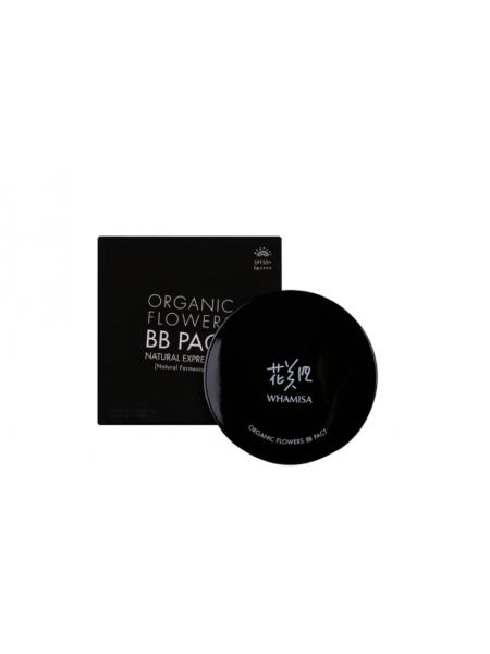 BB крем в кушоне Whamisa Organic Flowers BB Pact Natural Expression (Natural Fermentation) 20 Sand Beige PF50+/PA++++