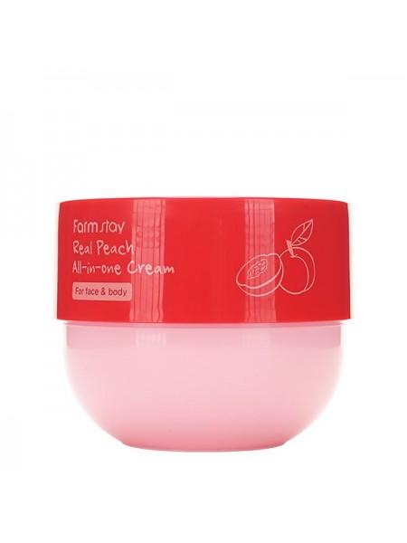 Крем для тела с экстрактом персика FarmStay Real Peach All-in-one Cream 300ml