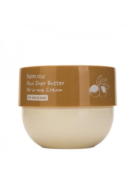 Питательный крем для лица и тела с маслом ши FarmStay Real Shea Butter All-In-One Cream 300ml