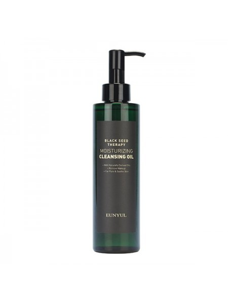 Гидрофильное масло для увядающей кожи EUNYUL Black Seed Therapy Moisturizing Cleansing Oil 200ml