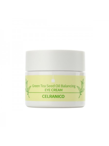 Крем для зоны вокруг глаз на основе зелёного чая CELRANICO Green Tea Seed Oil Balancing Eye Cream, 30ml