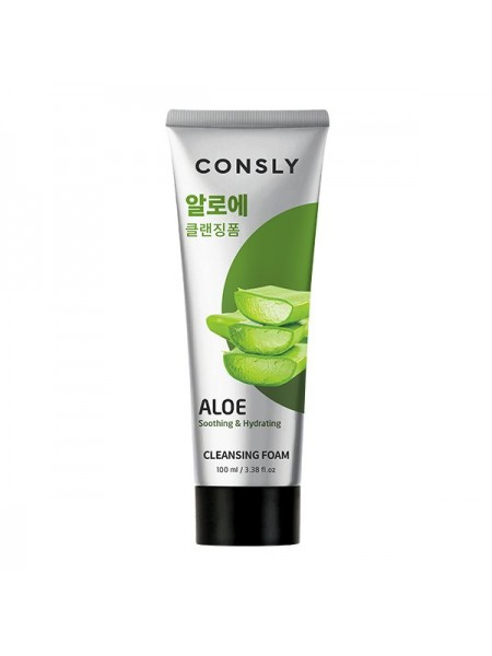 Очищающая пенка с ало эConsly Aloe Vera Soothing Creamy Cleansing Foam 100ml
