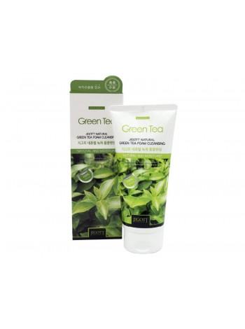 Пенка для умывания с экстрактом зеленого чая JIGOTT Natural Green Tea Foam Cleansing