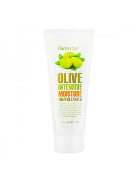 Пенка очищающая с экстрактом оливы увлажняющая FarmStay Olive Intensive Moisture Foam Cleanser