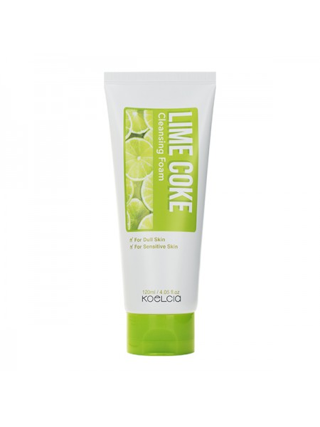 Пенка для жирной и чувствительной кожи KOELCIA Lime Coke Cleansing Foam 120ml
