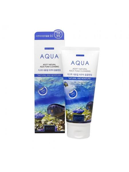 Увлажняющая пенка для умывания с аквамарином JIGOTT Natural Aqua Foam Cleansing