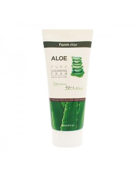 Пенка для умывания с алоэ FarmStay Aloe Pure Cleansing Foam