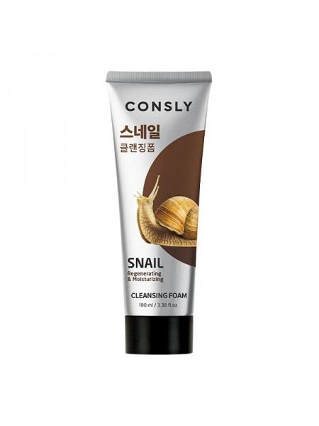 Улиточная пенка дял умывания Consly Snail Mucus Regenerating Creamy Cleansing Foam, 100ml