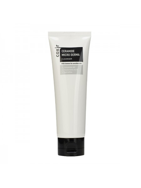 Пенка для умывания с керамидами COXIR Ceramide Micro Derma Cleanser 120ml