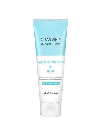 MediFlower Пенка для умывания с гиалуроновой кислотой и AHA кислотами - Hyaluronic cleansing, 120мл