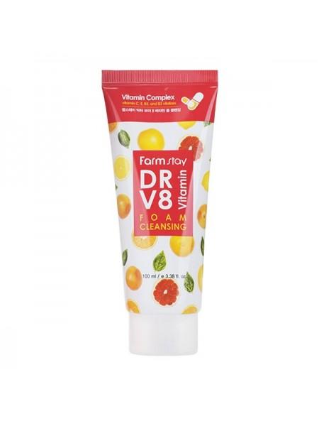 Очищающая пенка для тусклой кожи FarmStay Dr-V8 Vitamin Foam Cleansing
