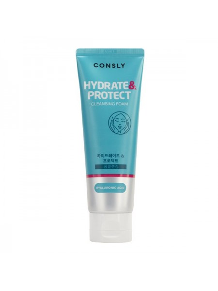 "Очищающая пенка для сухой кожи с гиалуроновой кислотой CONSLY Hyaluronic Acid Cleansing Foam ""Hydrate&Protect"", 120ml"
