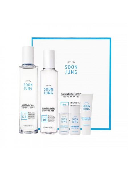 Набор уходовый для чувствительной кожи ETUDE HOUSE SoonJung Skin Care Set (2Kinds)