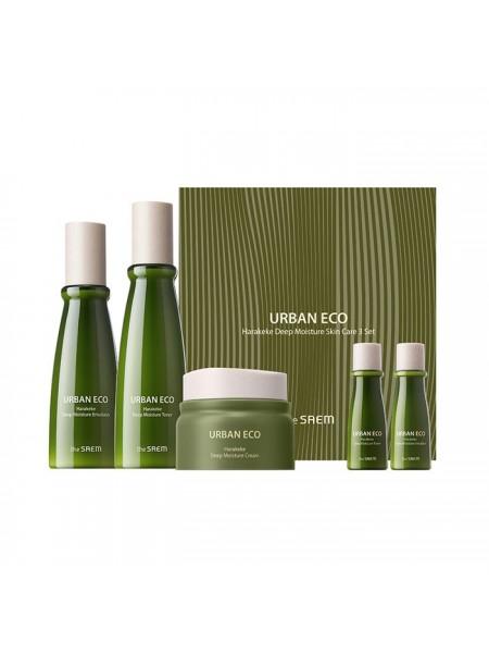 Подарочный набор The Saem Urban Eco Harakeke Deep Moisture Skin Care 3 Set