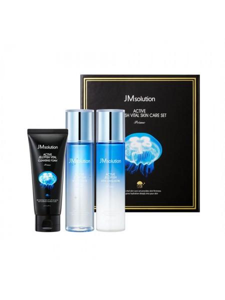 Набор для увлажнения кожи с экстрактом медузы JMsolution Active Jellyfish Vital Skin Care Set Prime