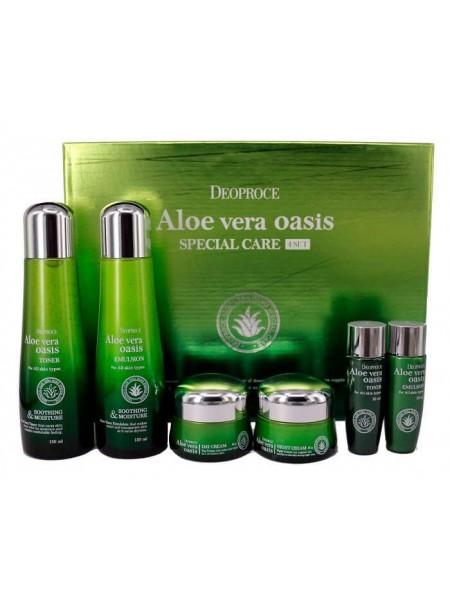Набор уходовый с экстрактом алоэ вера Deoproce Aloe Vera Oasis Special Care 4 Set