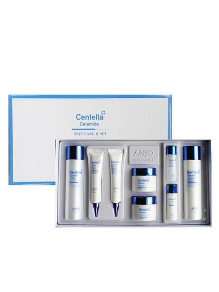 Набор средств с экстрактом центеллы и керамидами ANJO PROFESSIONAL Centella Ceramide Skin care 6 set