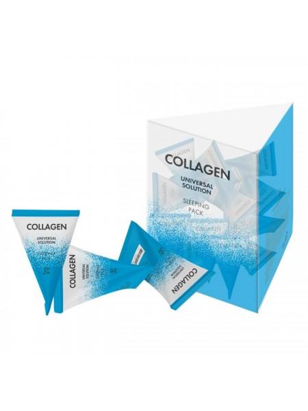 Ночная маска с коллагеном в пирамидках J:ON Collagen Universal Solution Sleeping Pack 20 pcs