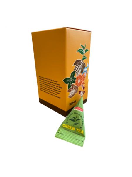 Освежающая маска для лица с экстрактом зеленого чая в пирамидках 12шт*20г Purederm Vitalizing Facial Mud Mask Green Tea