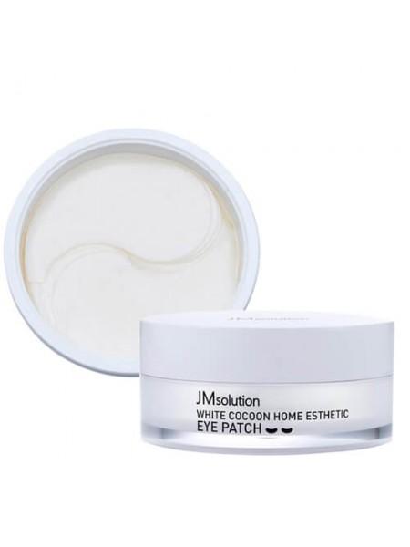 Гидрогелевые патчи с протеинами шёлка JMsolution Silky Cocoon Home Esthetic Eye Patch 60шт