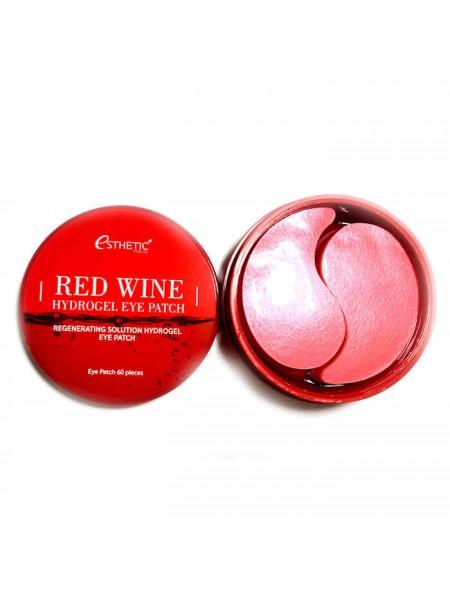 Гидрогелевые патчи с экстрактом красного вина Esthetic House Red Wine Hydrogel Eye Patch, 60шт