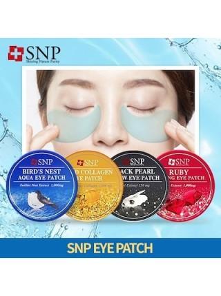 Патчи для глаз с черным жемчугом SNP Black Pearl Renew Eye Patch *60 шт.