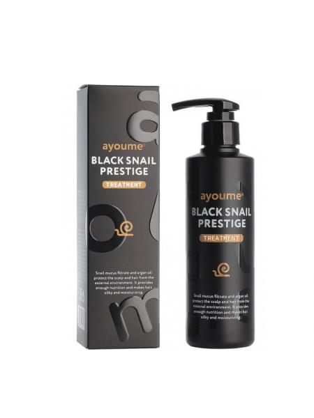 Восстанавливающий шампунь с муцином чёрной улитки Ayoume Black Snail Prestige Shampoo
