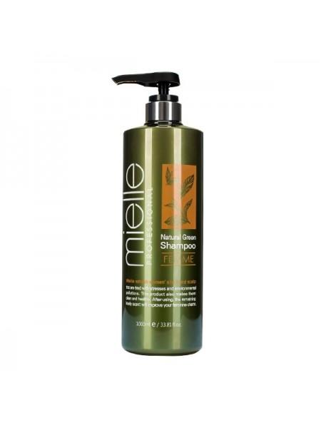 Шампунь для жирной кожи головы MIELLE Professional Natural Green Shampoo Femme 1000ml