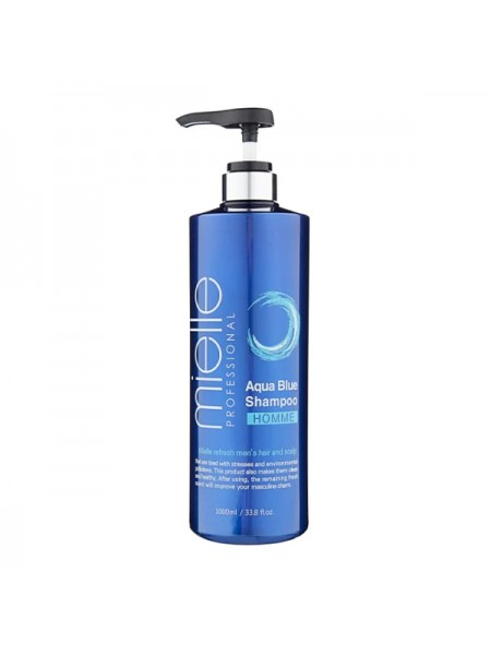Освежающий шампунь для мужчин Mielle Professional Aqua Blue Shampoo Homme 1000ml