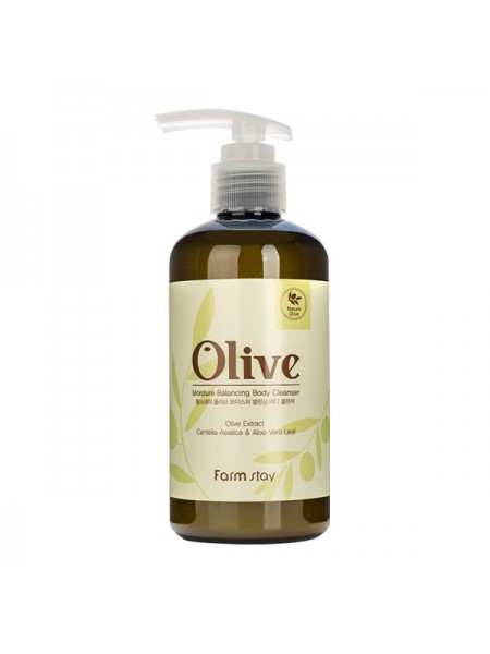 Гель для душа с оливой FarmStay Olive Moisture Balancing Body Cleanser