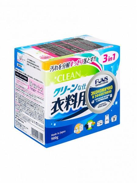 Daiichi Funs Clean Порошок стиральный с ферментом яичного белка для полного устранения пятен 900 гр