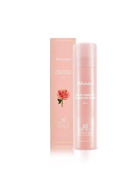 Омолаживающий солнцезащитный спрей с розой JMsolution Glow Luminous Flower Sun Spray SPF50+ PA++++, 180мл