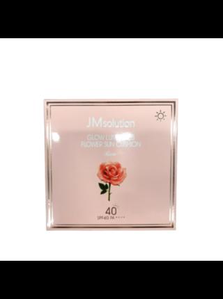 JMsolution Солнцезащитный кушон с экстрактом розы - Glow luminous flower sun cushion SPF40, 25г