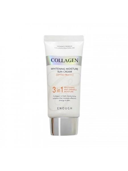 Солнцезащитный крем с коллагеном ENOUGH Collagen Whitening Moisture Sun Cream SPF50+ PA+++