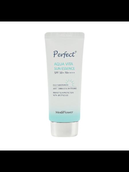 MediFlower Эссенция солнцезащитная увлажняющая - Perfect aqua vita sun essence, 50мл