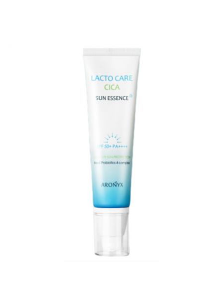 Солнцезащитная эссенция с лактобактериями Aronyx Lacto Care Cica Sun Essence Spf 50+ Pa++++, 50 мл