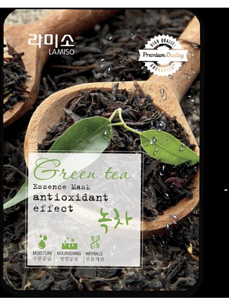 La Miso Essence Mask Premium Quality Greaen Tea Тканевая маска с экстрактом Зеленого чая