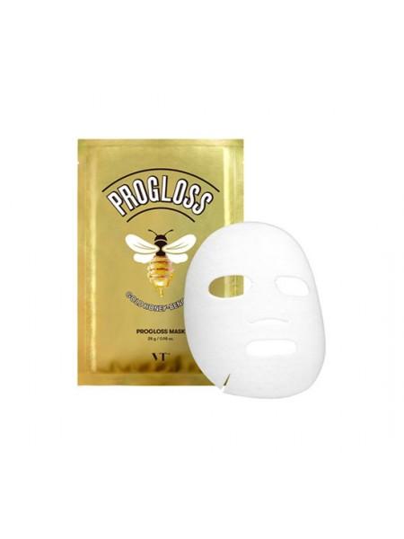 Тканевая маска с золотом и прополисом VT Cosmetics Progloss Mask